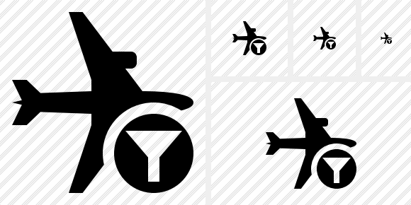 Airplane Horizontal Filter Icon