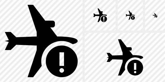 Airplane Horizontal Warning Symbol