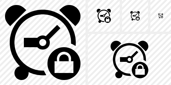 Alarm Clock Lock Icon