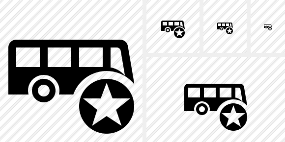 Bus Star Icon