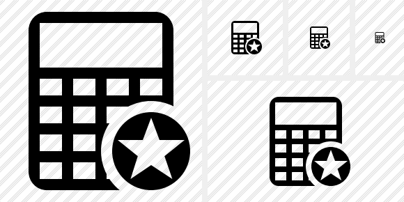 Calculator Star Icon
