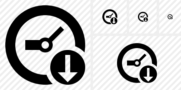 Icône Clock Download