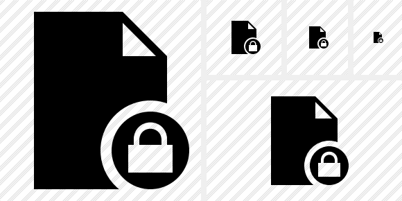 Document Blank Lock Icon