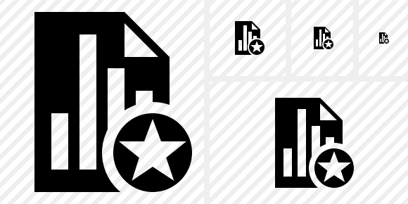Document Chart Star Icon