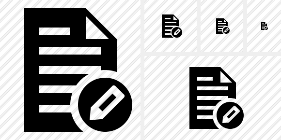 Document Edit Symbol