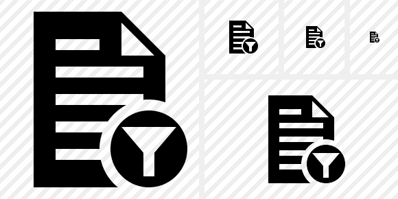 Document Filter Symbol