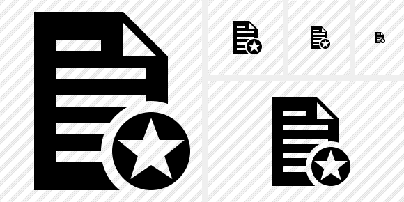 Document Star Symbol