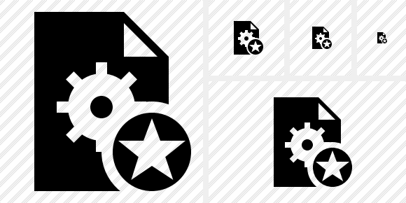 File Settings Star Icon