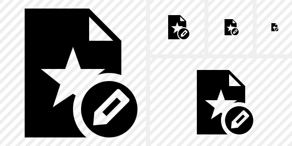 File Star Edit Icon
