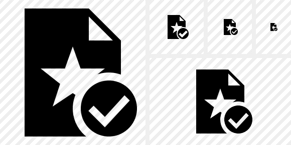 File Star Ok Icon