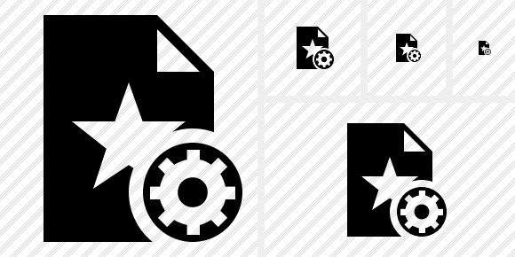 File Star Settings Icon