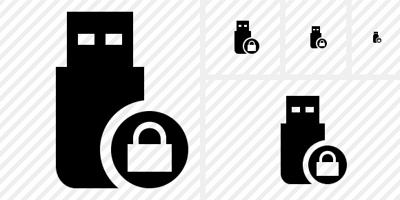 Flash Drive Lock Icon