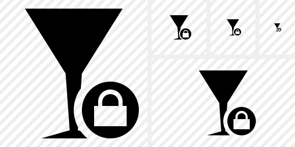 Glass Lock Symbol
