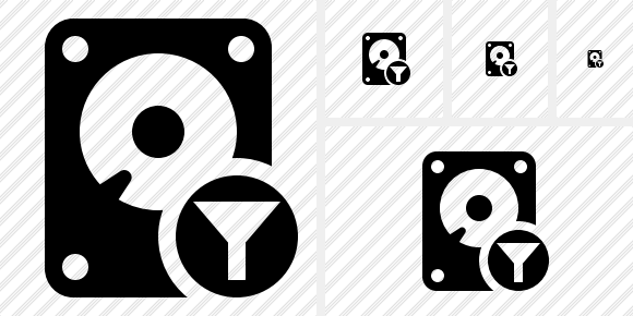 Hard Drive Filter Icon