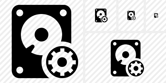 Hard Drive Settings Icon