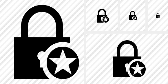 Lock Star Icon