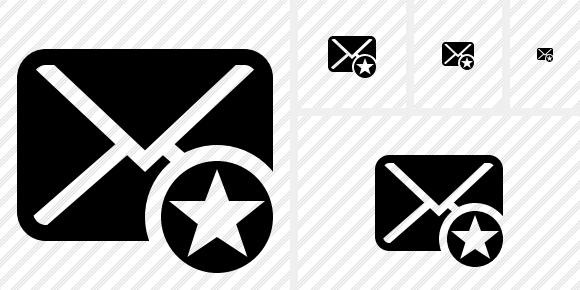 Mail Star Icon