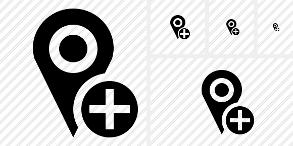 Map Pin Add Icon