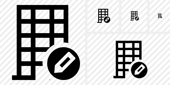 Office Building Edit Icon
