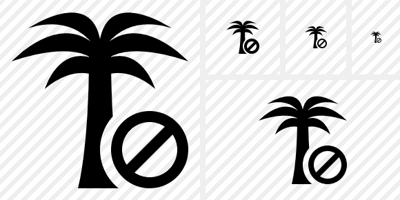 Palmtree Block Icon