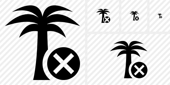 Palmtree Cancel Icon