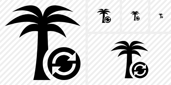 Palmtree Refresh Icon