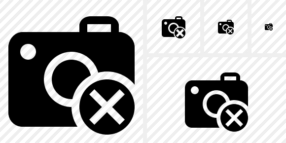 Photocamera Cancel Symbol