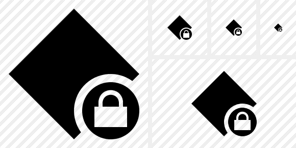 Rhombus Lock Icon