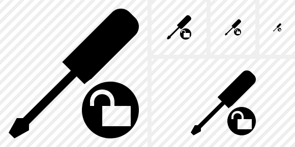 Screwdriver Unlock Icon