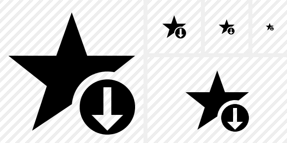 Star Download Symbol