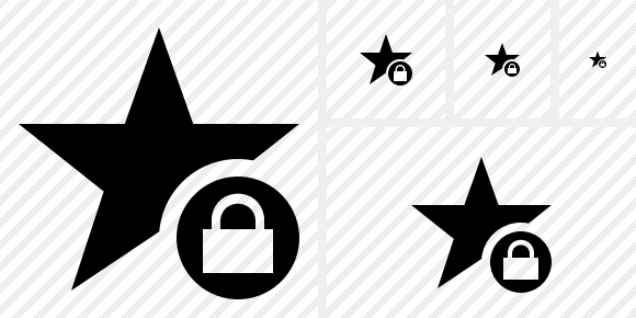 Star Lock Icon