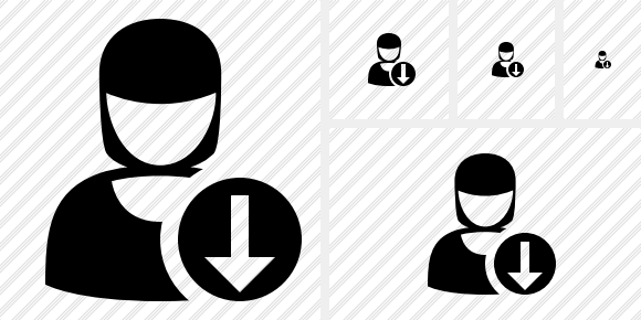 User Woman Download Icon