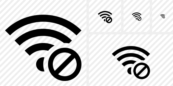 Wi Fi Block Icon