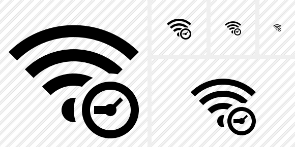 Wi Fi Clock Icon