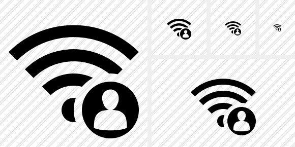 Wi Fi User Icon