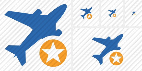 Airplane 2 Star Icon
