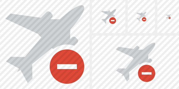 Airplane Stop Icon