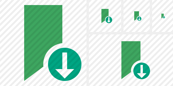 Bookmark Green Download Symbol