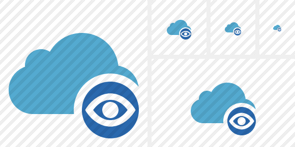 Cloud Blue View Icon