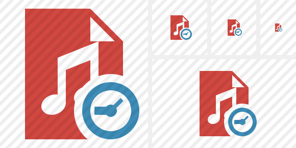 File Music Clock Icon