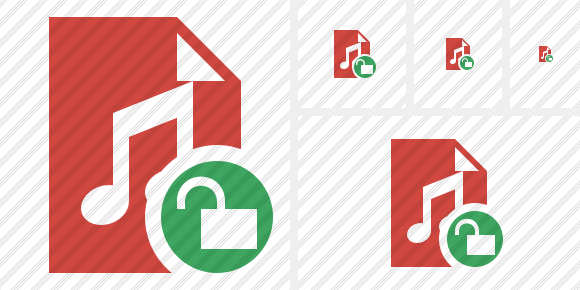File Music Unlock Icon