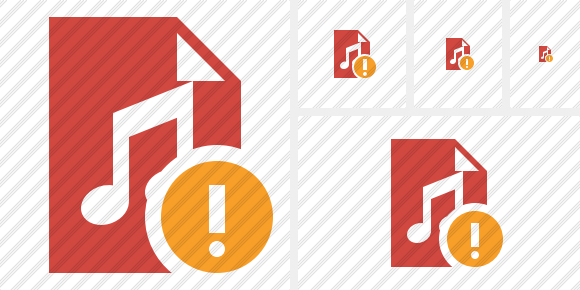 File Music Warning Icon