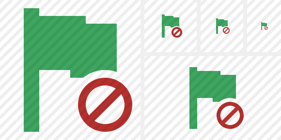 Flag Green Block Icon