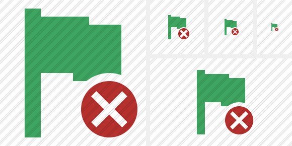 Flag Green Cancel Symbol