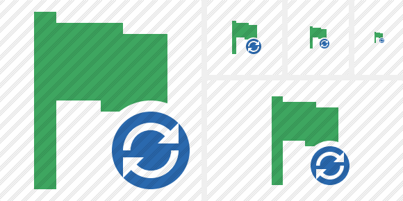 Flag Green Refresh Icon