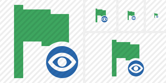 Flag Green View Icon