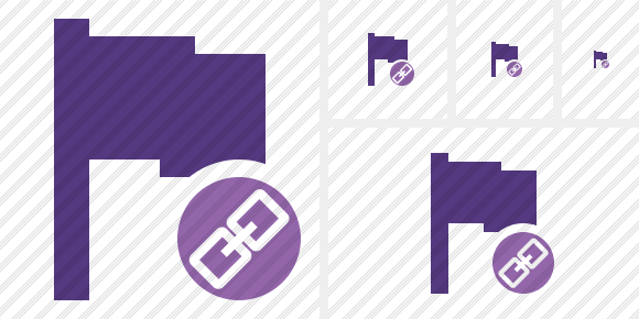 Flag Purple Link Icon
