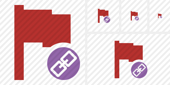 Flag Red Link Icon