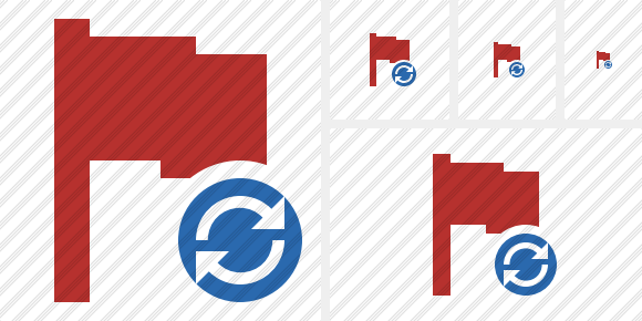 Flag Red Refresh Icon
