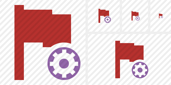 Flag Red Settings Icon
